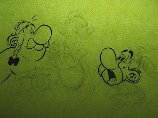 Asterix Obelix 50 Goscinny Uderzo sketch inks Kiki ring-tailed lemur
