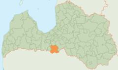 Situación Bauskas en Letonia.- Situation of Bauska in Latvia