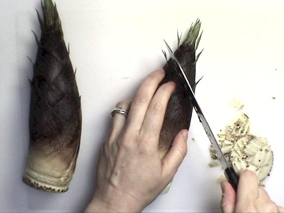 A vos baguettes cuire une pousse de bambou crue - Replanter un bambou coupe ...