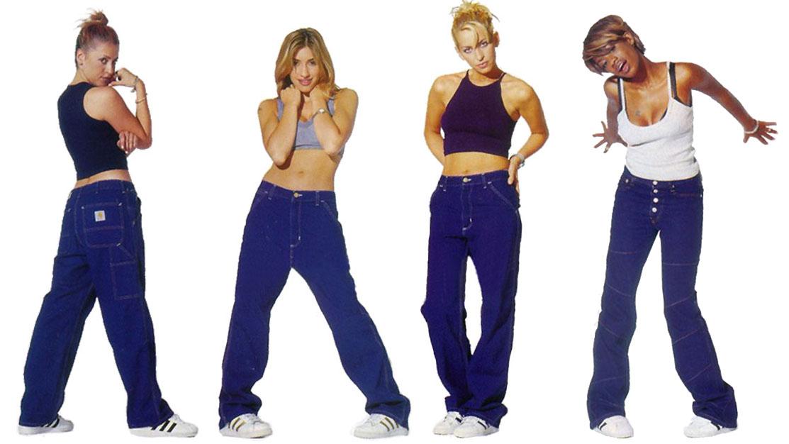 Jeans trend 1990's (All Saints)