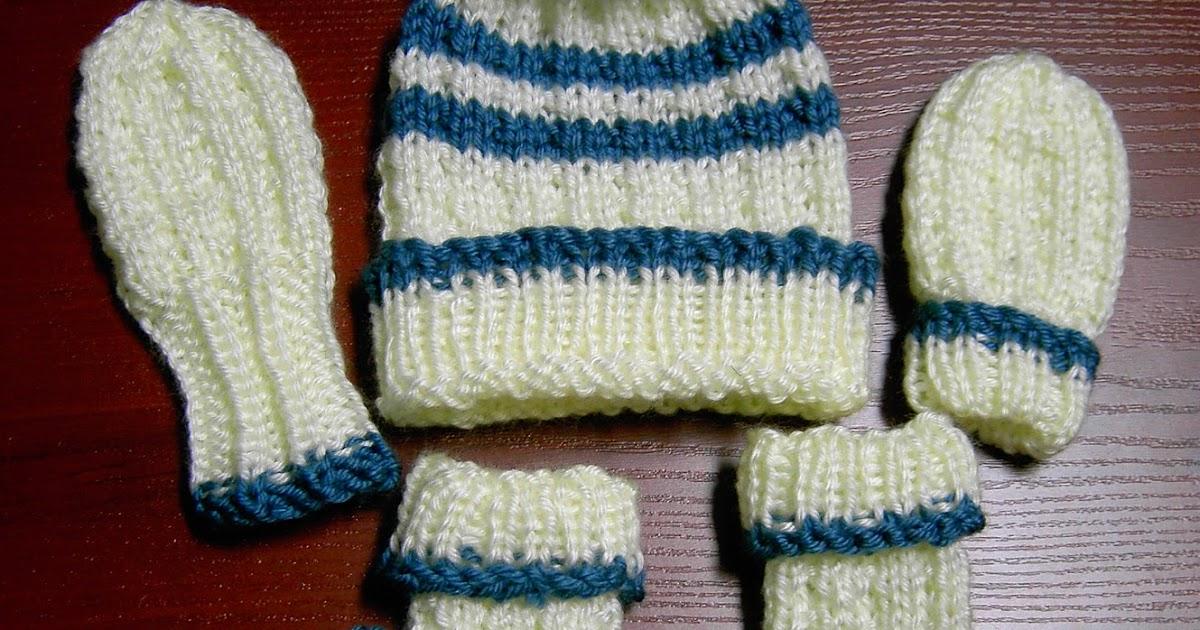 Knitting Pattern Abbreviations Rs : Sea Trail Grandmas: FREE HAT BOOTIES & MITTENS SET KNIT PATTERN (0-3 months)