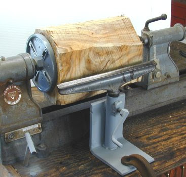 Lathe turning wood