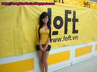 Elly Tran Ha / Elly Kim Hong / Elly Bồ Công Anh in a Loft endorsement