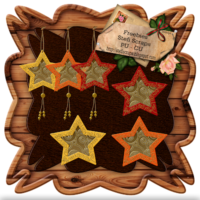 http://stefiscraps.blogspot.com/2009/12/freebie-star-ornament-with-hook-star.html