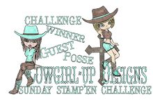 Cowgirl's Sunday Stamp'en