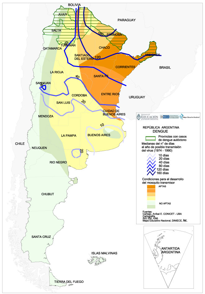 Mapa del Dengue en Argentina