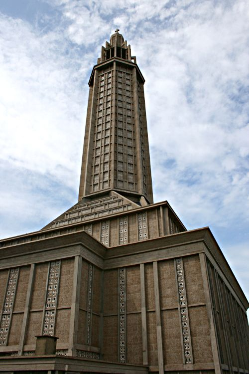 modern church tower