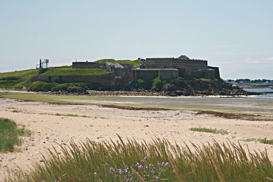 fort on coastline