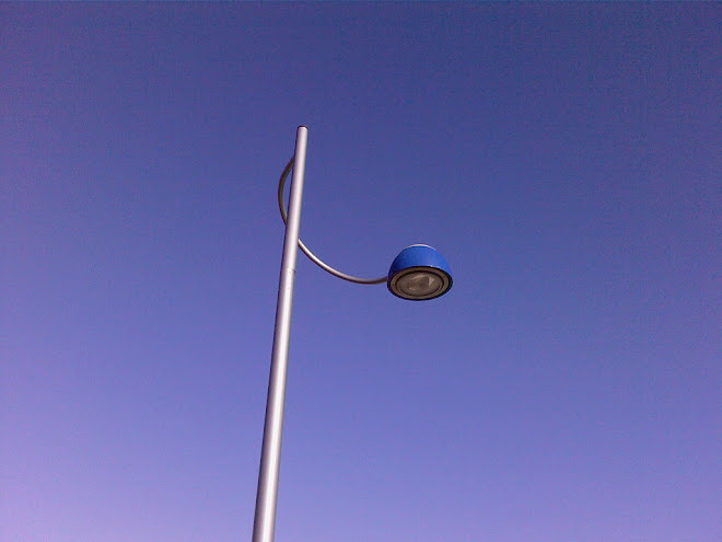 BLUE SHADED LAMPOST