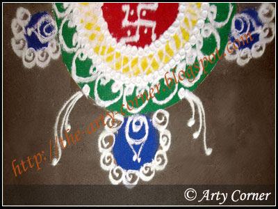 diwali rangoli designs, sanskar bharti rangoli design