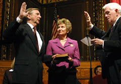 Tom Moyers and Judith Lazinger with Thomas Noe as Master of Ceremonies Swearing In Day 2005