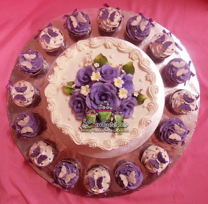 Purple Theme Wedding Cake ika Wedding Cake 8inch with buttercream