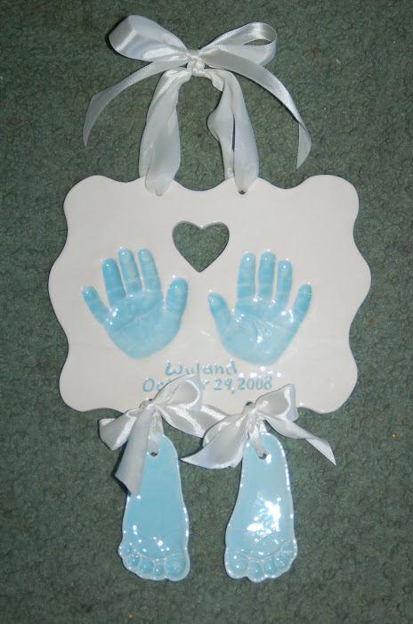 Hand plaque and hanging feet- $60.00 and up