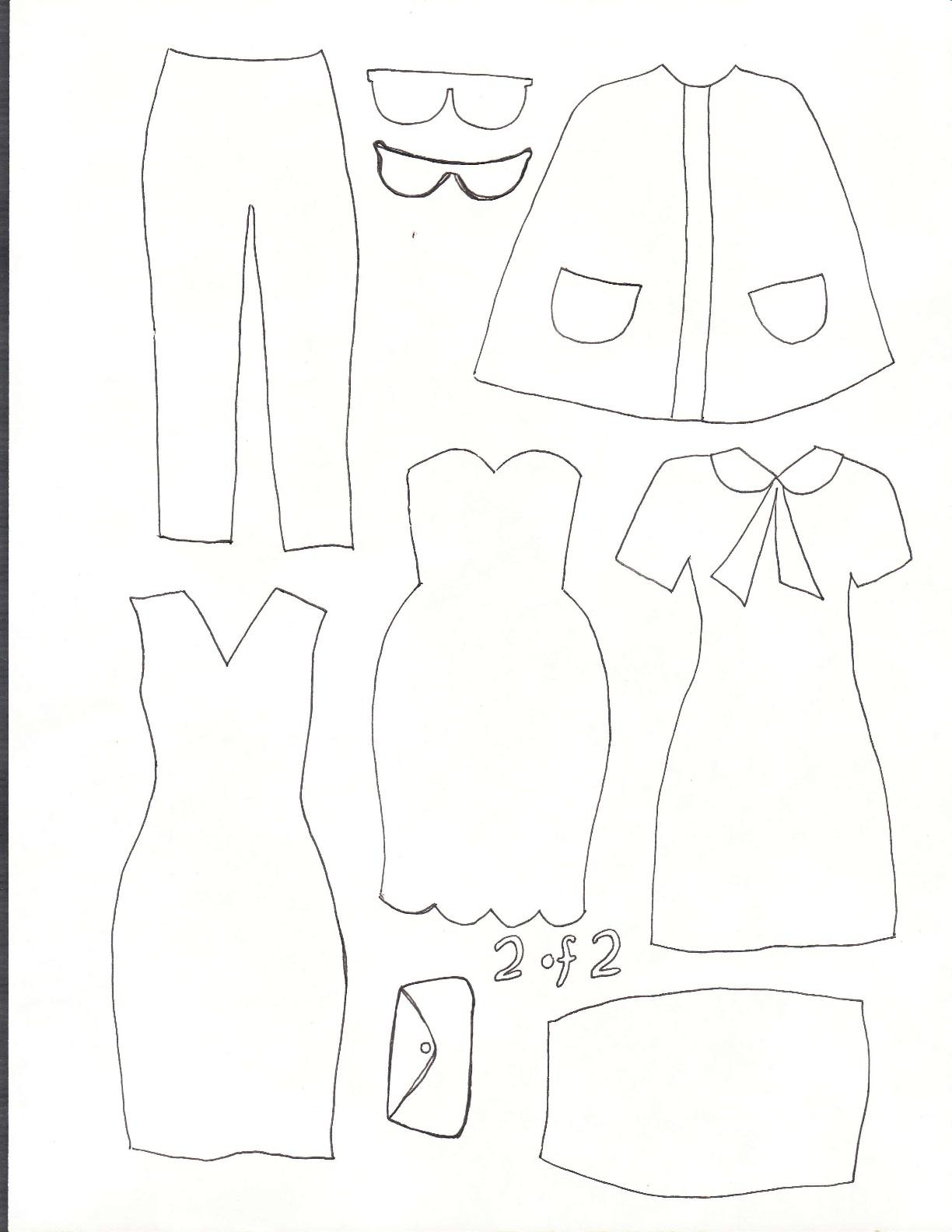 Felt Doll Dress Up Templates