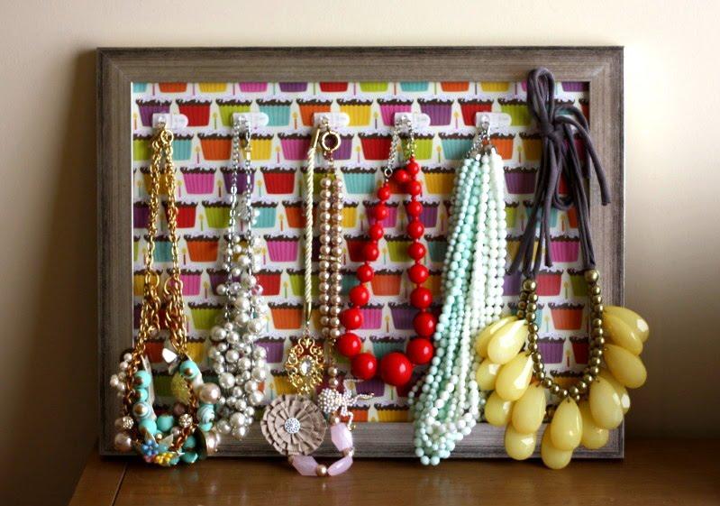 at shop diy framed necklace holder