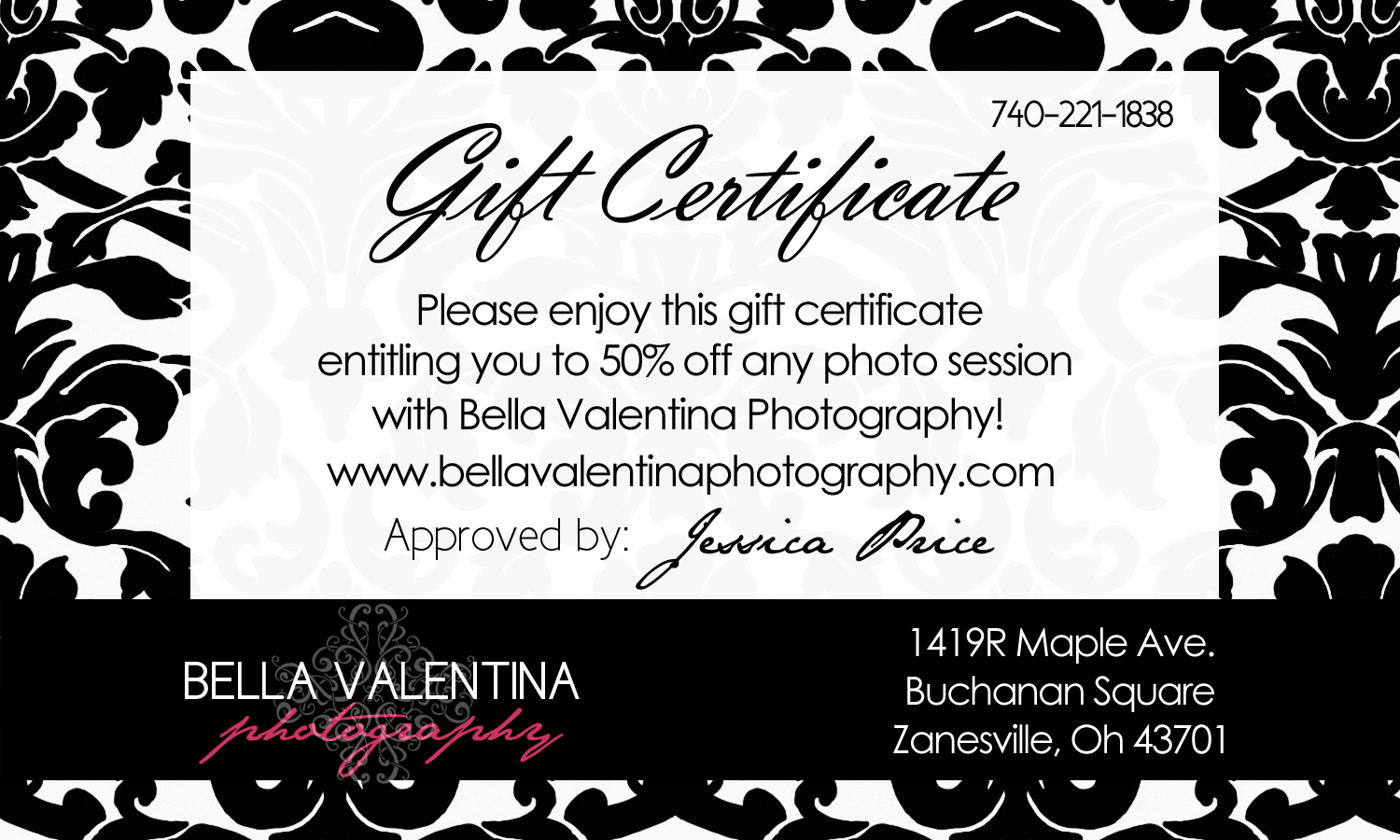 Photography gift certificate template free pronofoot35fo Images