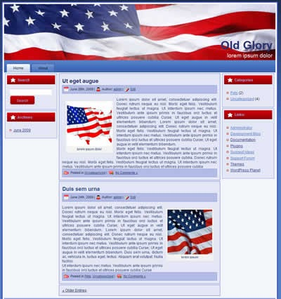 ... and portals: Free three column wordpress theme - Old Glory USA