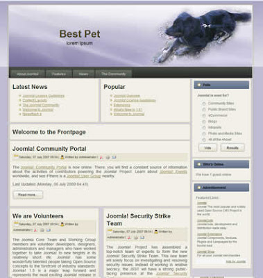 joomla pet template