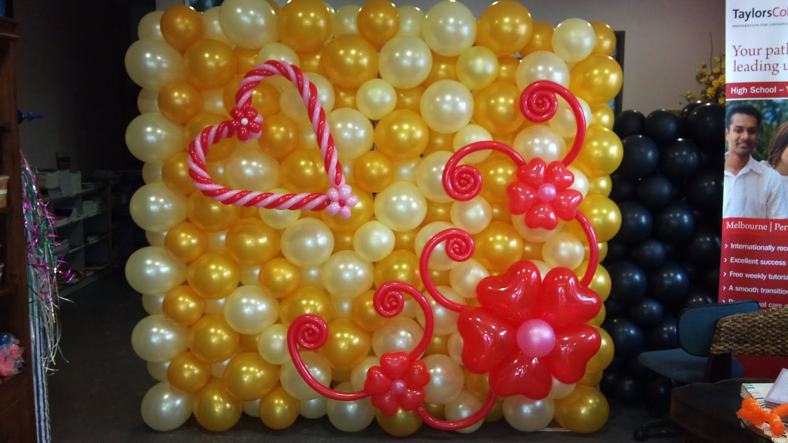 Birthday stage decoration balloons image inspiration of for Balloon decoration for stage