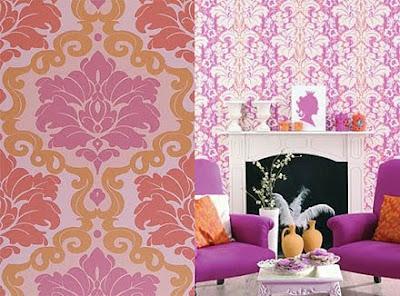 decorar con rosa y naranja