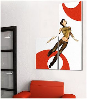 decorar una pared con cuadros