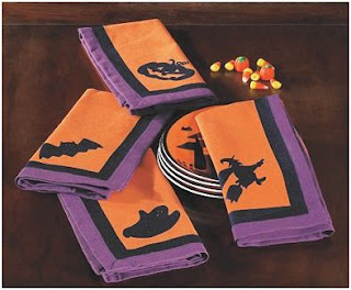 servilletas para decorar la mesa en Halloween