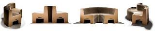 sofá de cartón flexible