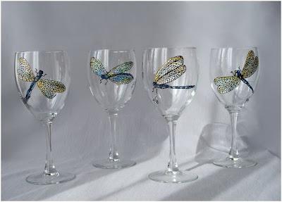 libelulas para decorar el cristal
