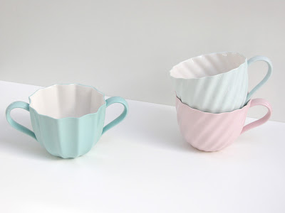 porcelain cups with inspiration vintage