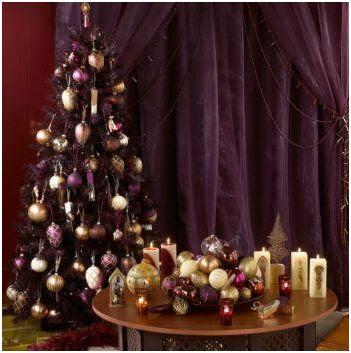 Morado en la Decoracion de Navidad