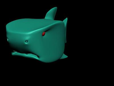 tiburon, 3d max, diseño 3d