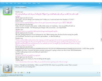 Warning: Gratuitous use of swearing and adult topics. MSN CONVO PART 1 ...