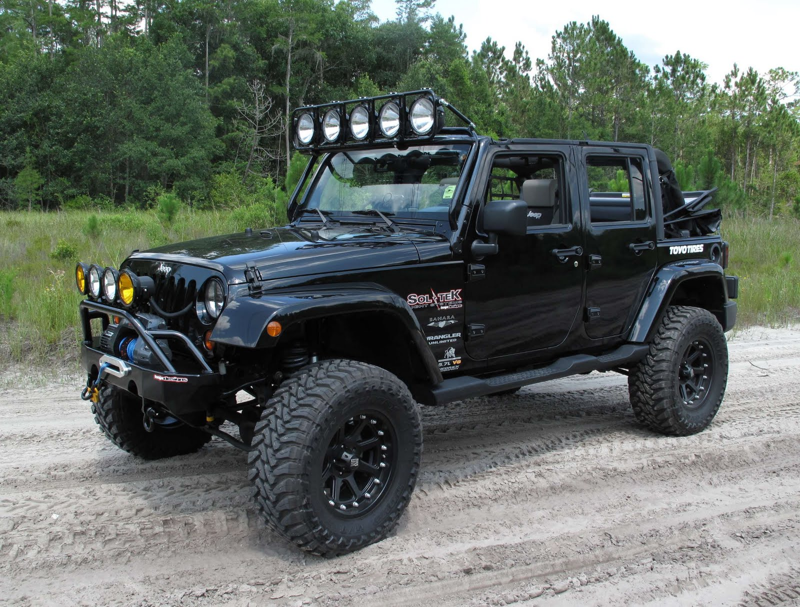 Custom Jeep Wrangler Jk Unlimited Black