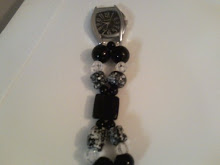 Glass Beads- Chunky White and Black