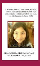 JANAÍNA LÚCIA MACHI (10 ANOS)  ALTO PARAÍSO DO OESTE (RO)