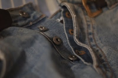 gay jeans Button fetish fly