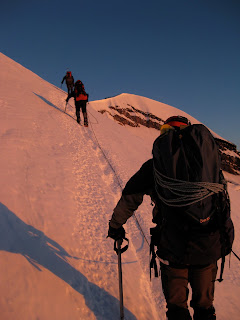 photo of climbing rainier