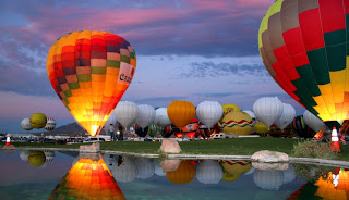 Balloons at Evening
