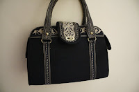 Black Purse Tote Handbag