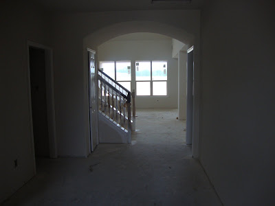 Paint doors baseboards and stair railing