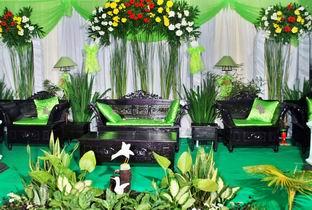 gandes rias pengantin: dekorasi minimalis