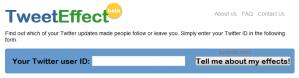www.tweeteffect.com | Situs Untuk Mengetahui Siapa Yang Unfollow Kamu Di Twitter