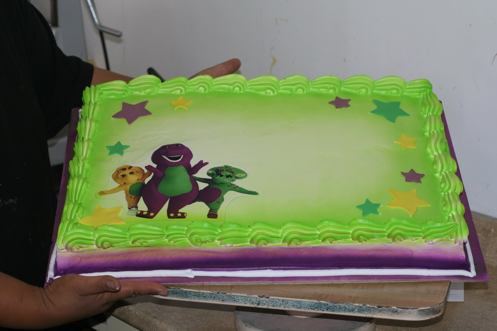 Barney Edible Cake Images