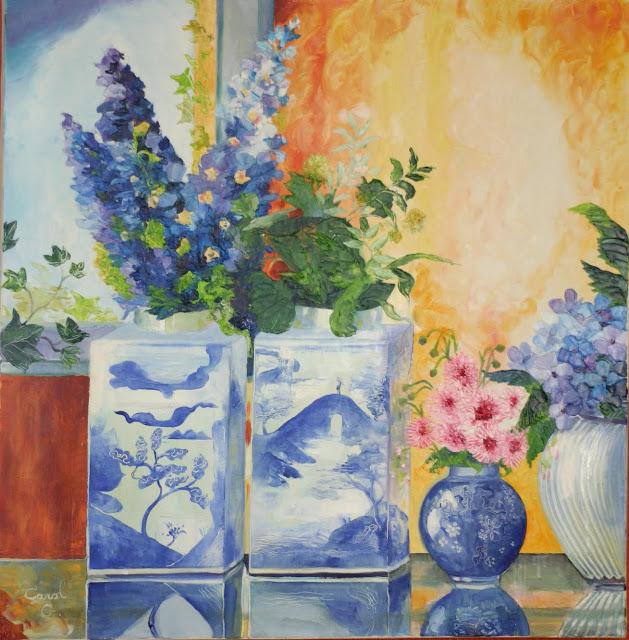 Fleurs - Huile sur toile (80 X 80)