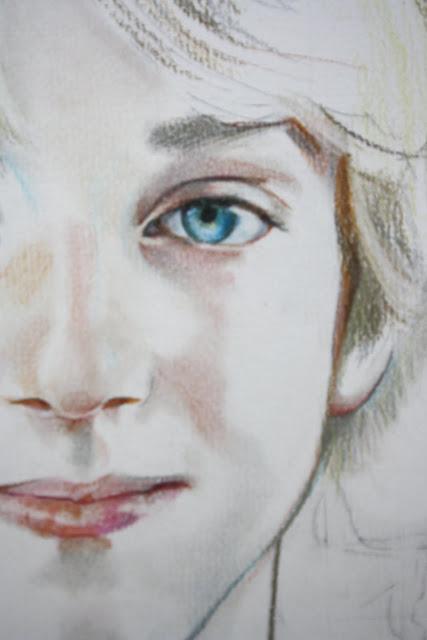 15 mai - Début du portrait de Théo