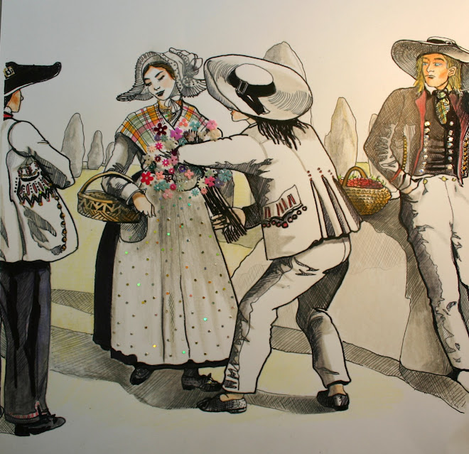 """Illustration pour le conte """"Les korrigans de Trehoranteuk"""""""
