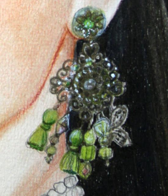 Boucles d'oreille imaginées et réalisées par ma fille Laure