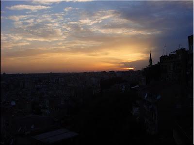 La noche cae sobre Estambul