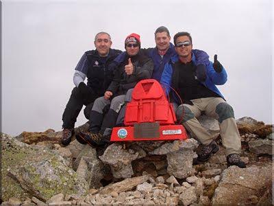 Cornón mendiaren gailurra 2.140 m. - 2010eko apirilaren 17an