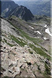 Vista desde el tramo de las lajas de roca